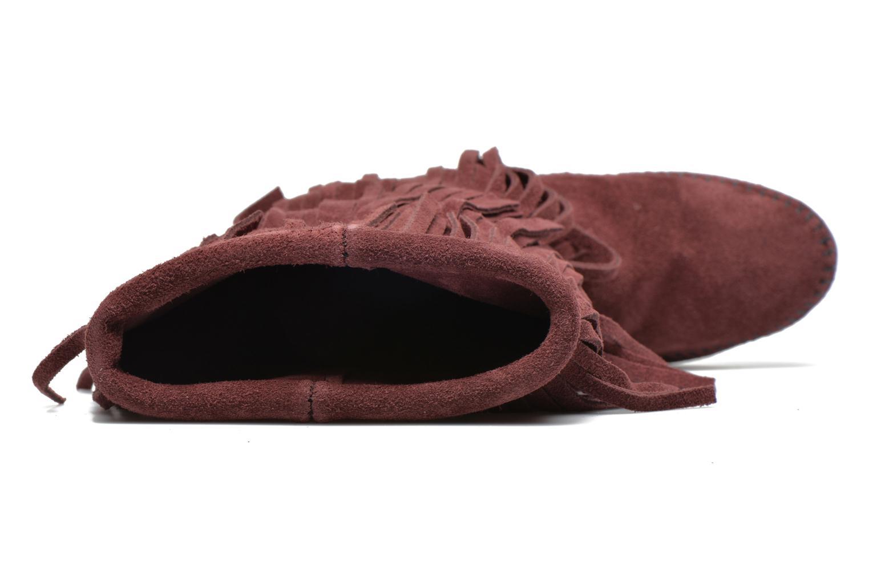 Bottines et boots Minnetonka 3 Layer Fringe Bt Bordeaux vue gauche
