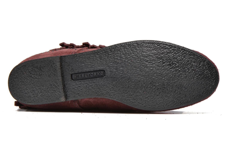 Bottines et boots Minnetonka 3 Layer Fringe Bt Bordeaux vue haut