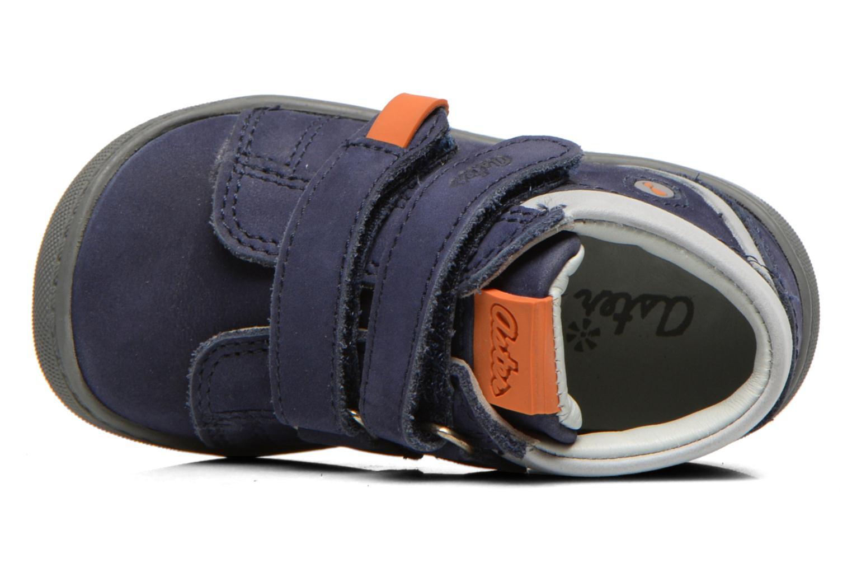 Chaussures à scratch Aster PIELL Bleu vue gauche