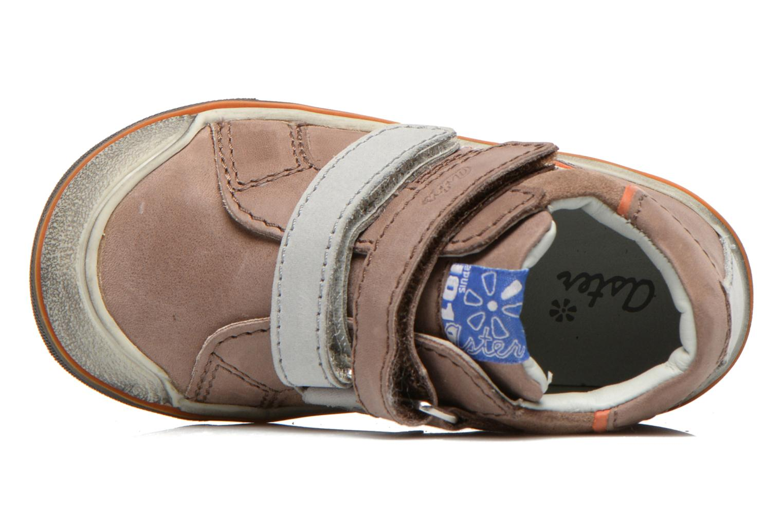 Chaussures à scratch Aster DRUPSTER Beige vue gauche