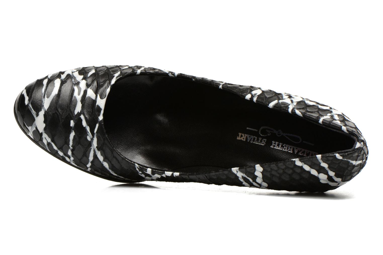 Cither 373 Cuir Noir Blanc