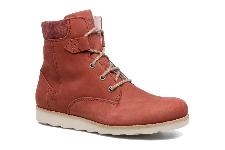 Bottines et boots TBS Anaick Rouge vue détail/paire