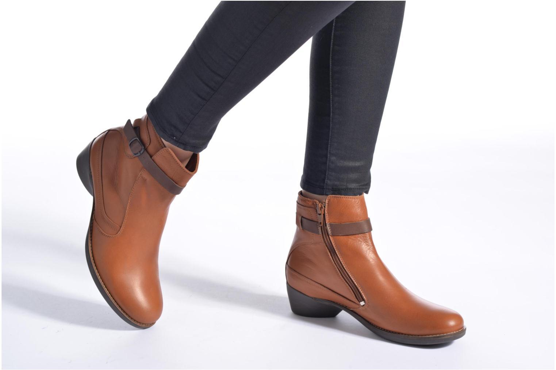 Bottines et boots TBS Gently Rouge vue bas / vue portée sac