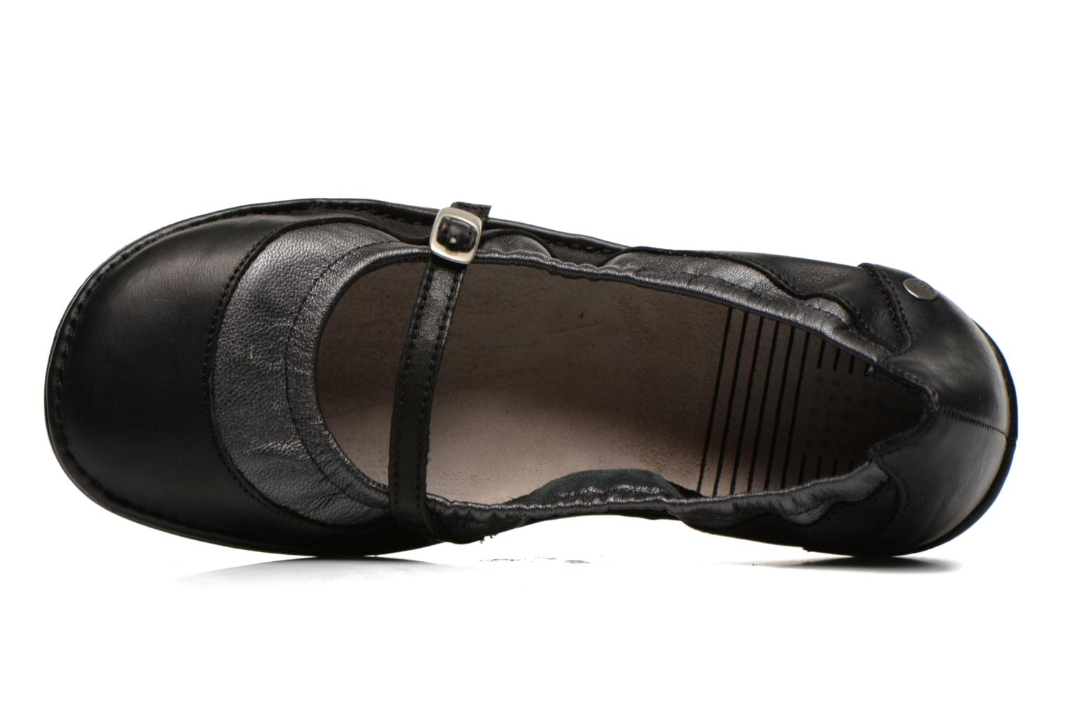Ballet pumps TBS Mariza Black view from the left