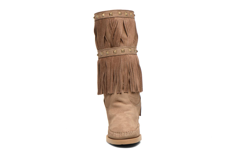 Bottes Karma of Charme Mahiki2 Beige vue portées chaussures
