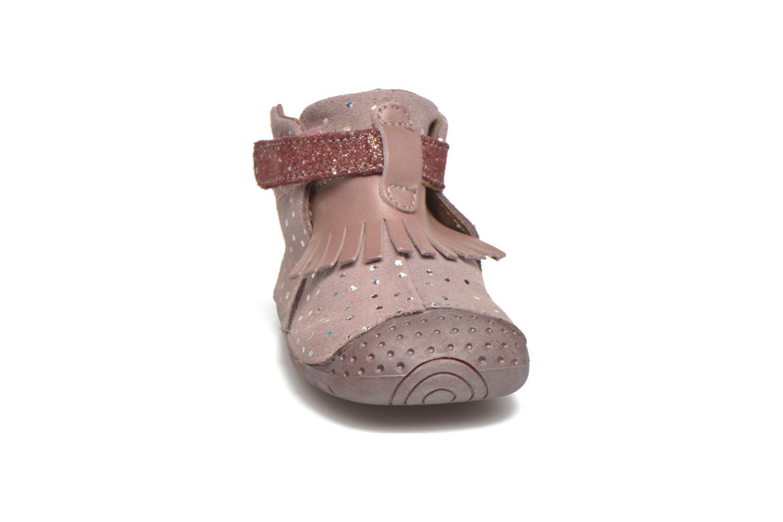 Chaussures à scratch Babybotte Zazie Rose vue portées chaussures