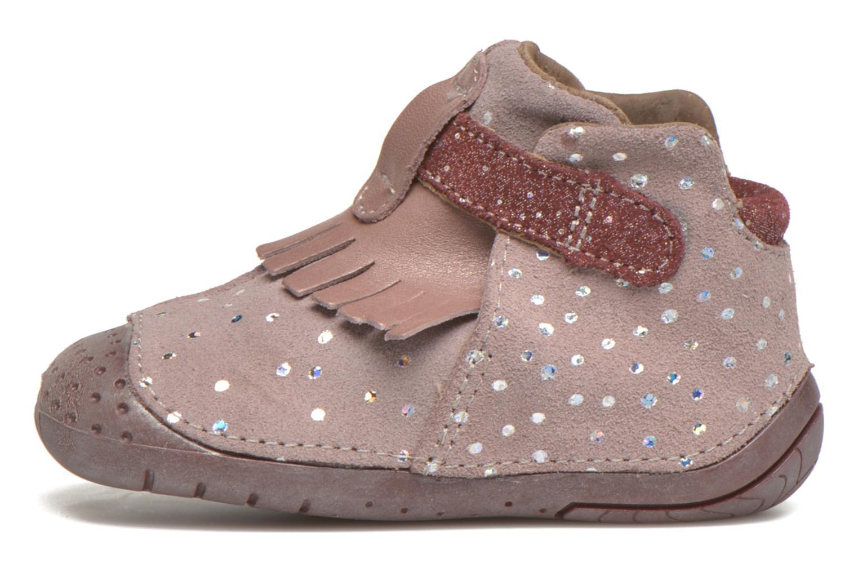 Chaussures à scratch Babybotte Zazie Rose vue face