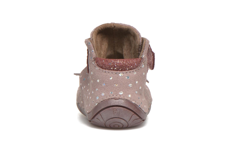 Chaussures à scratch Babybotte Zazie Rose vue droite