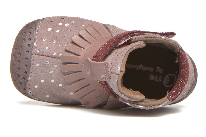 Chaussures à scratch Babybotte Zazie Rose vue gauche