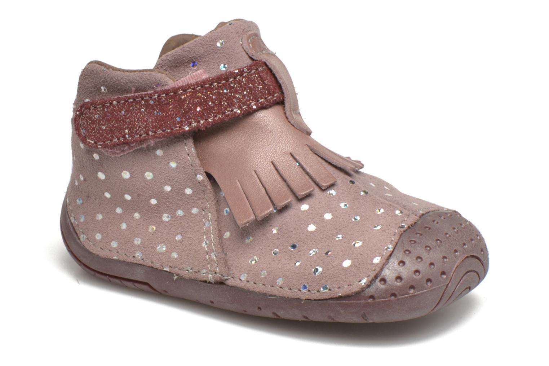Chaussures à scratch Babybotte Zazie Rose vue détail/paire