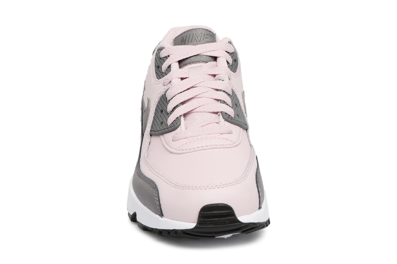 Baskets Nike Nike Air Max 90 Ltr (Gs) Rose vue portées chaussures