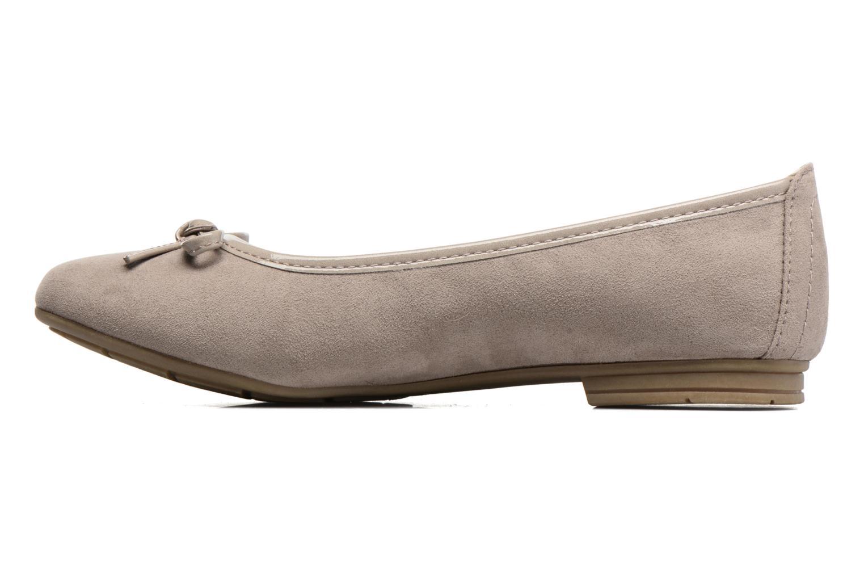 Ballerinas Jana shoes Aciego braun ansicht von vorne