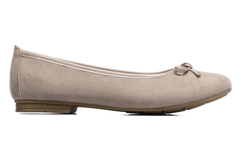 Ballerinas Jana shoes Aciego braun ansicht von hinten