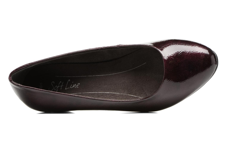 Escarpins Jana shoes Zudiri Bordeaux vue gauche