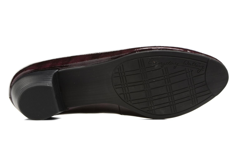 Escarpins Jana shoes Zudiri Bordeaux vue haut