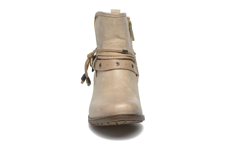Stiefeletten & Boots Mustang shoes Hillun beige schuhe getragen