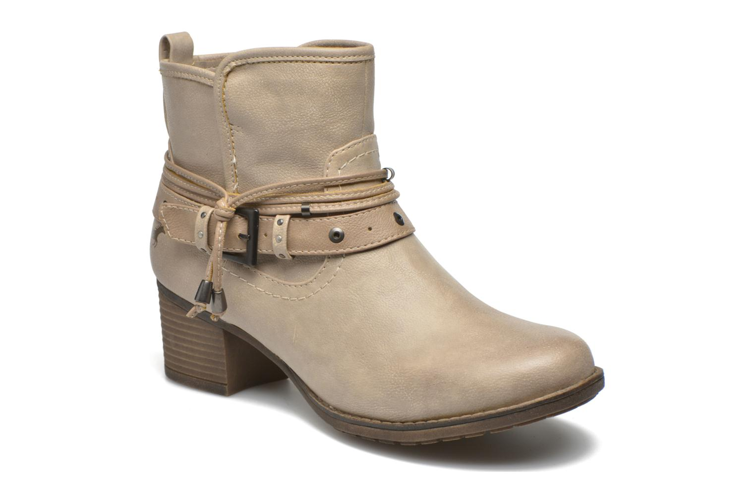 Bottines et boots Mustang shoes Hillun Beige vue détail/paire