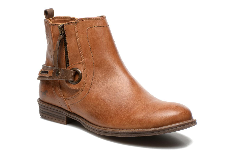 Bottines et boots Mustang shoes Isauris Marron vue détail/paire