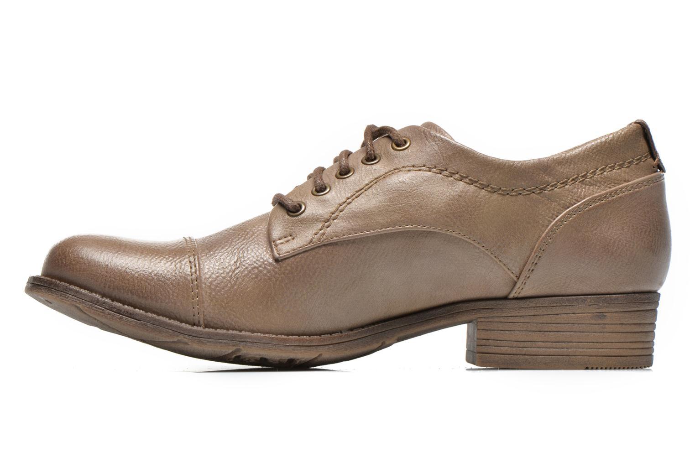 Chaussures à lacets Mustang shoes Ulris Beige vue face