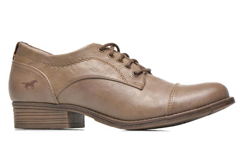Chaussures à lacets Mustang shoes Ulris Beige vue derrière