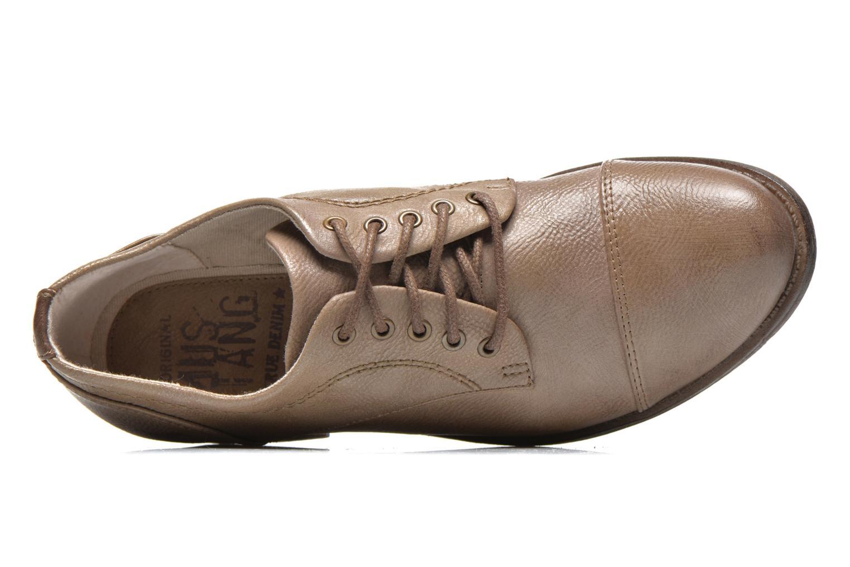 Chaussures à lacets Mustang shoes Ulris Beige vue gauche