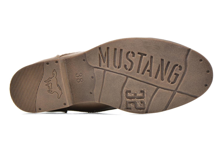 Chaussures à lacets Mustang shoes Ulris Beige vue haut