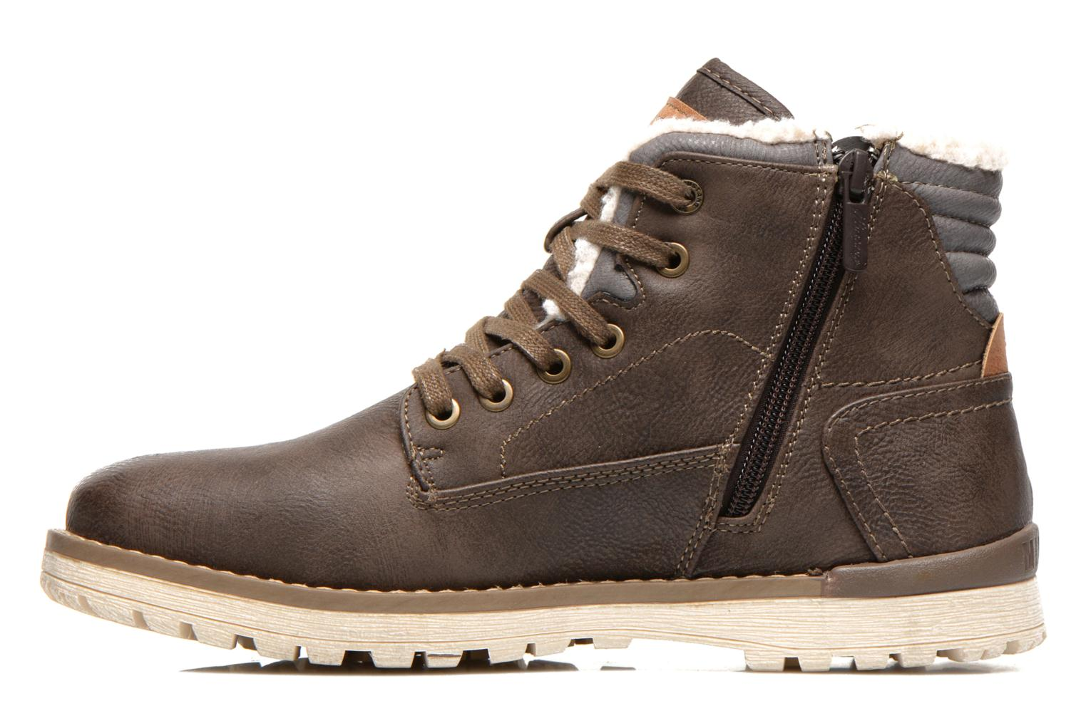 Ankle boots Mustang shoes Uthvir Brown front view