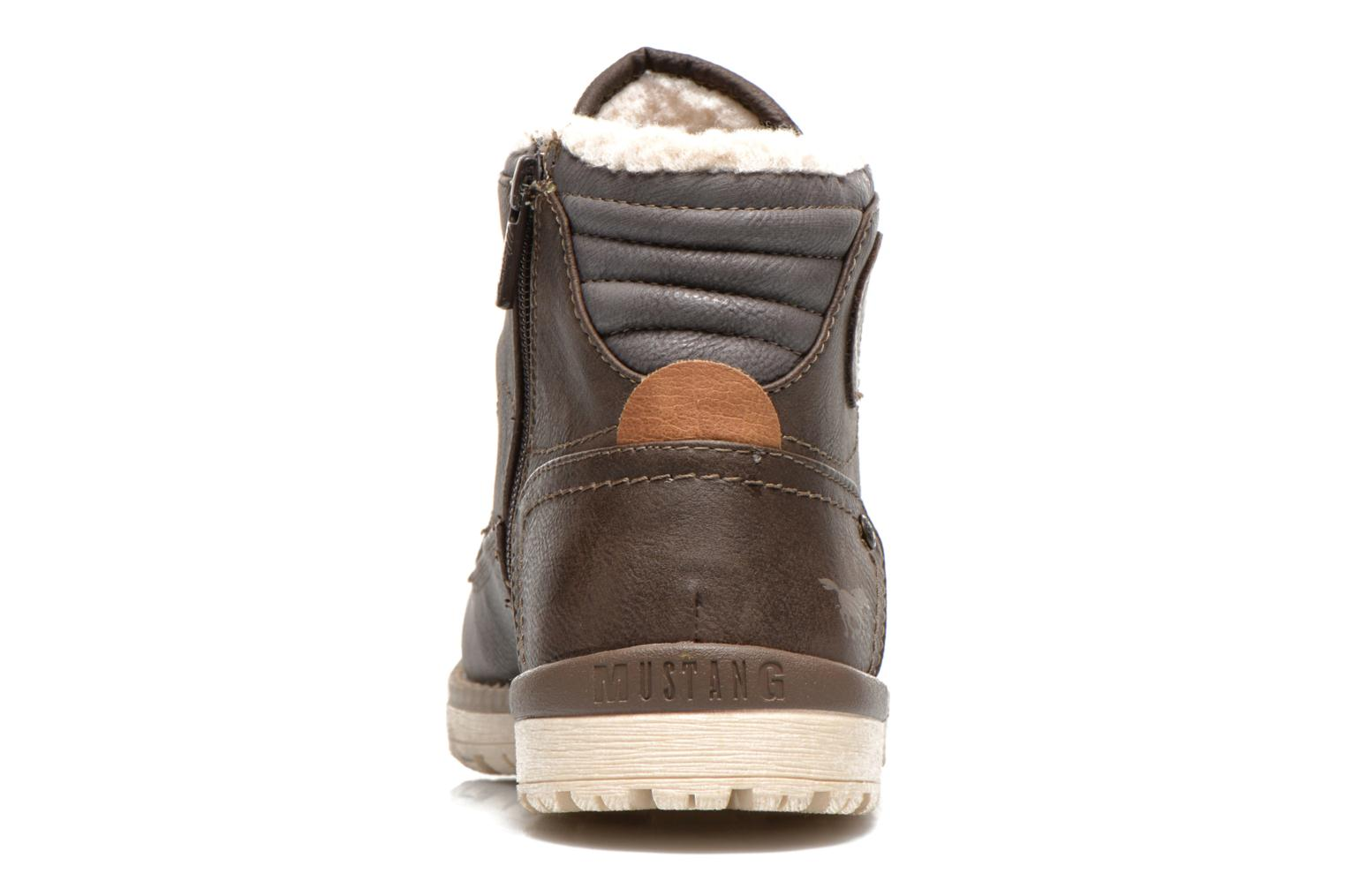 Ankle boots Mustang shoes Uthvir Brown view from the right