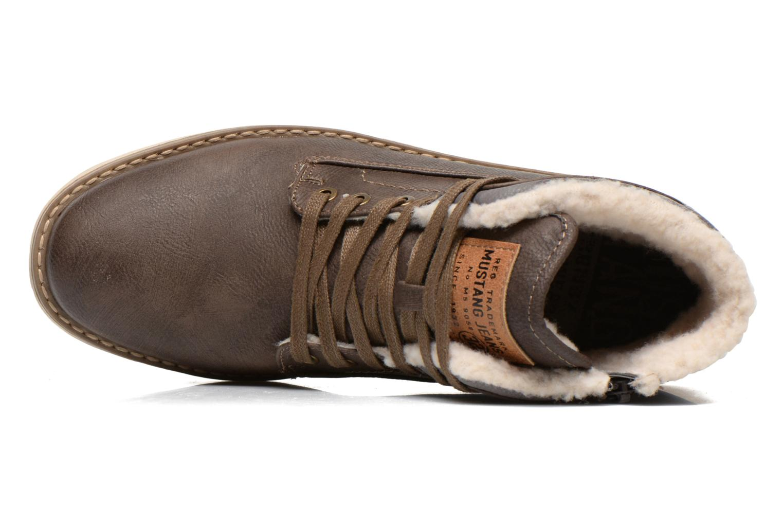 Bottines et boots Mustang shoes Uthvir Marron vue gauche