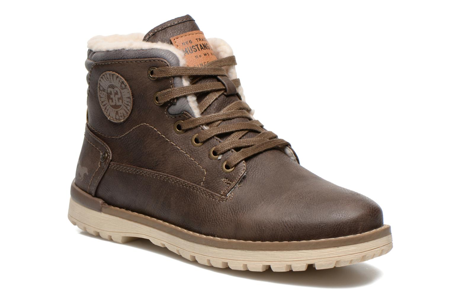 Ankle boots Mustang shoes Uthvir Brown detailed view/ Pair view