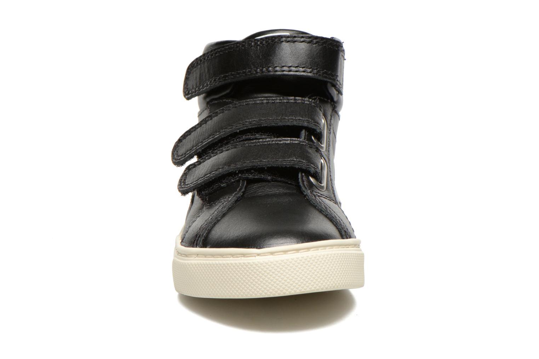 Baskets Veja ESPLAR MID SMALL VELCRO LEATHER Noir vue portées chaussures