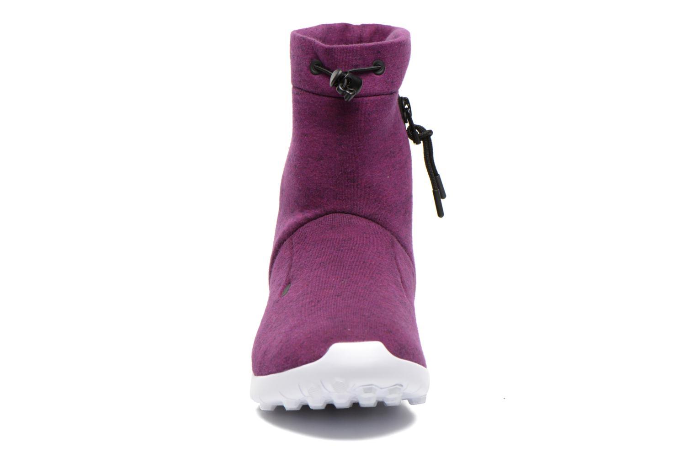Bottines et boots Nike Wmns Nike Tech Fleece Mid Bordeaux vue portées chaussures