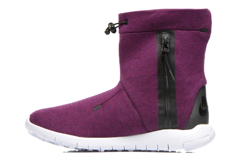 Bottines et boots Nike Wmns Nike Tech Fleece Mid Bordeaux vue face