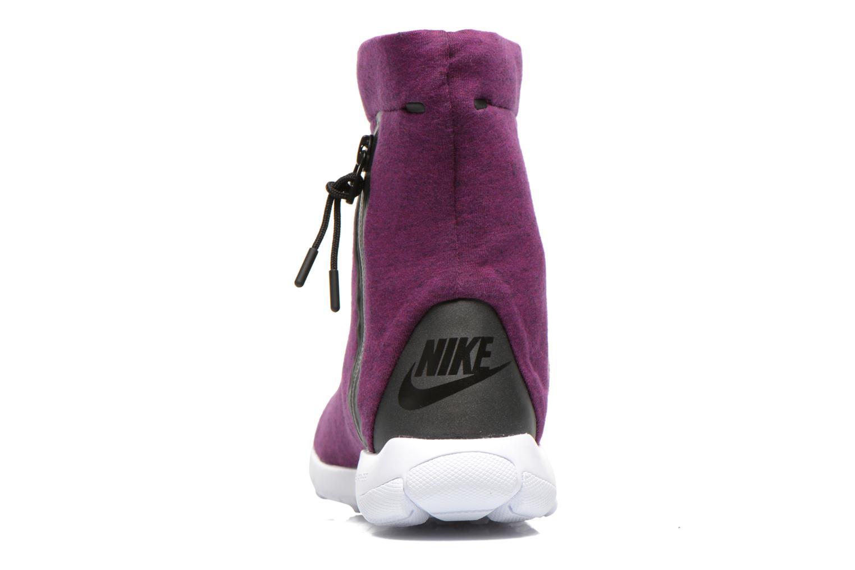 Botines  Nike Wmns Nike Tech Fleece Mid Vino vista lateral derecha