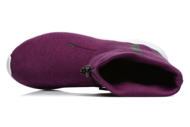Botines  Nike Wmns Nike Tech Fleece Mid Vino vista lateral izquierda