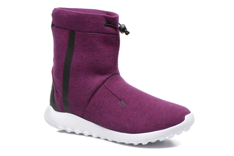 Bottines et boots Nike Wmns Nike Tech Fleece Mid Bordeaux vue détail/paire