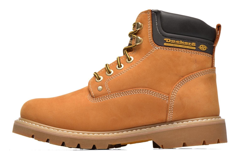 Bottines et boots Dockers Ugo Beige vue face