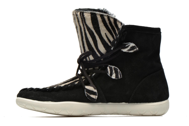 Boots en enkellaarsjes Yum Gum Aspen Animal Zwart voorkant