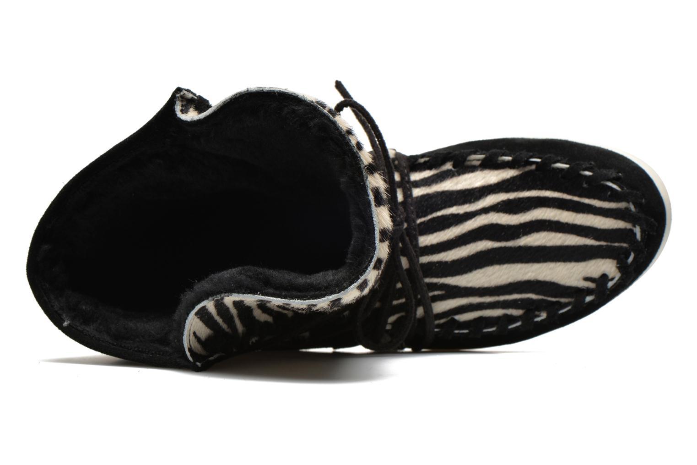 Boots en enkellaarsjes Yum Gum Aspen Animal Zwart links
