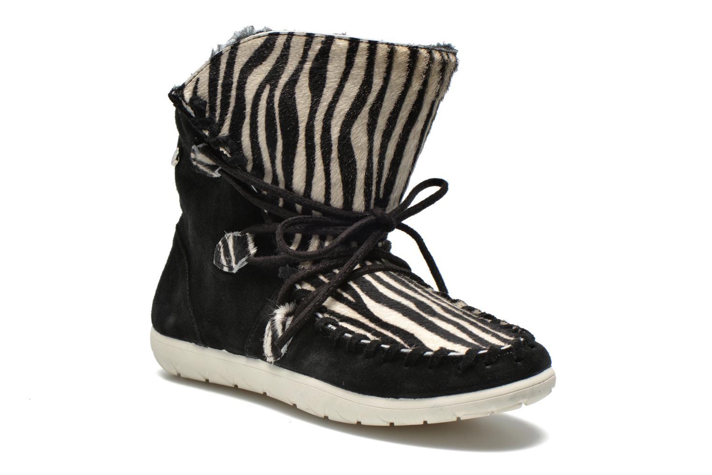 Boots en enkellaarsjes Yum Gum Aspen Animal Zwart detail