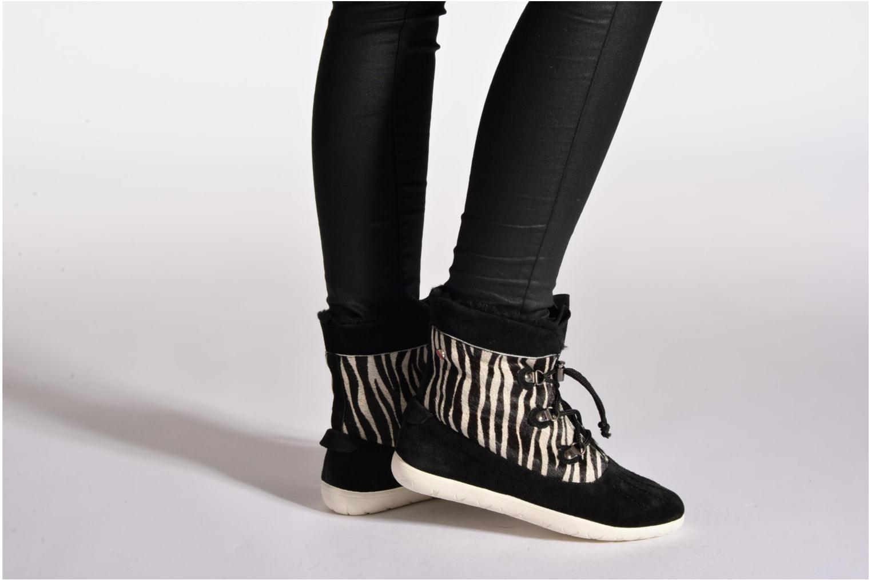 Stiefeletten & Boots Yum Gum Murren animal schwarz ansicht von unten / tasche getragen