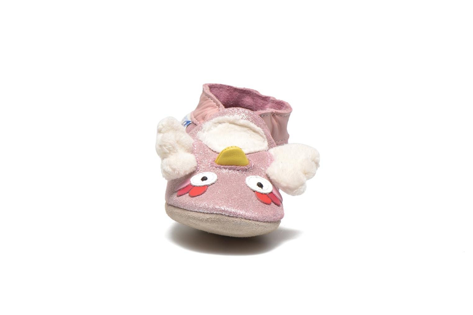 Chaussons Robeez Lulu Owl Rose vue portées chaussures