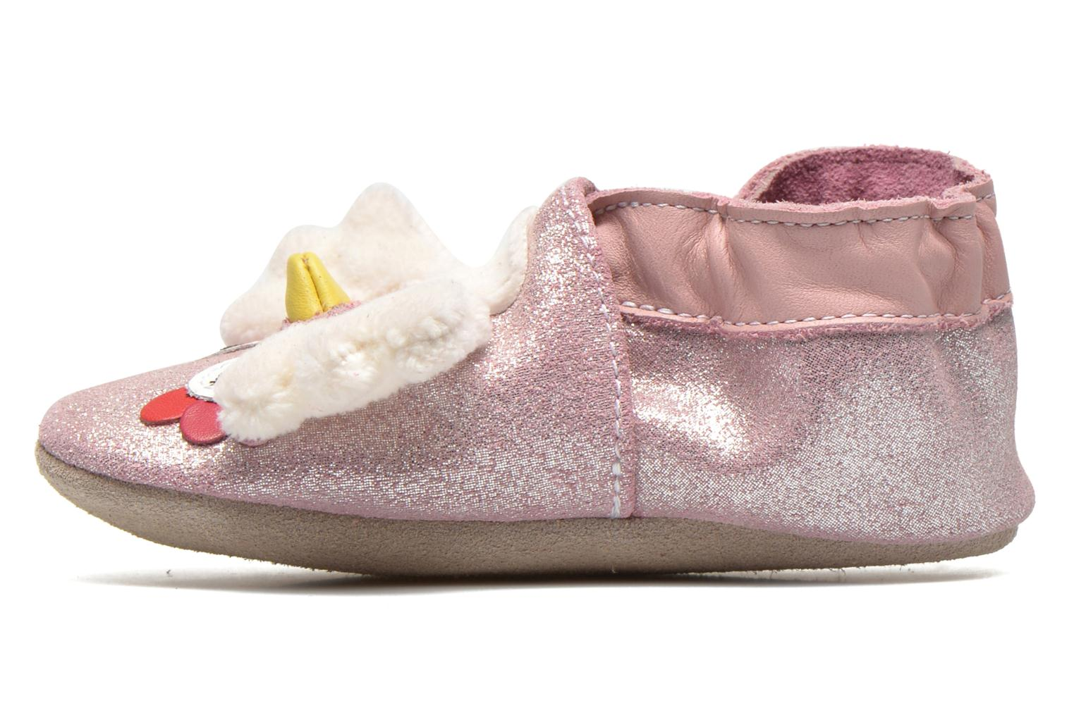 Chaussons Robeez Lulu Owl Rose vue face