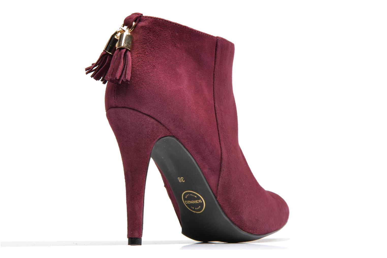 Bottines et boots Made by SARENZA Smoking Simone #5 Bordeaux vue face