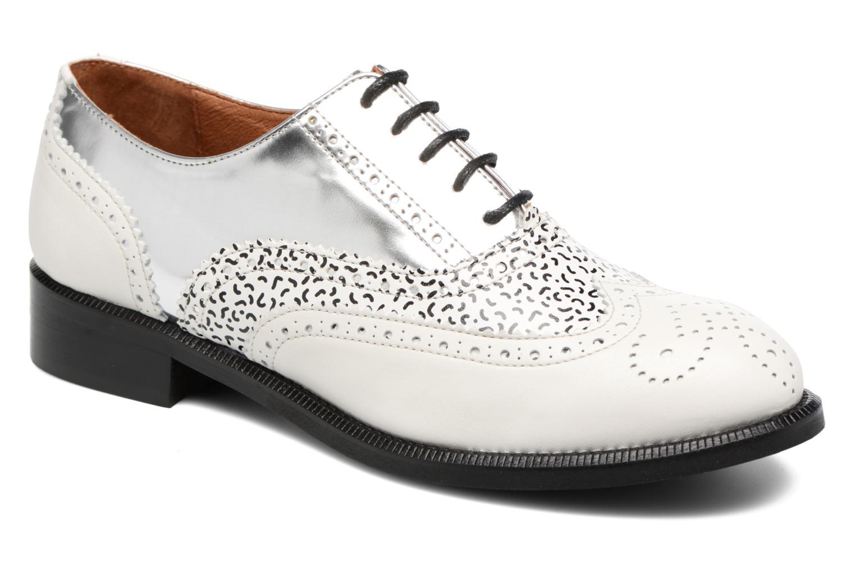 90's Girls Gang Chaussures à Lacets #5 Gutoby blanc + fideua + Specas argent