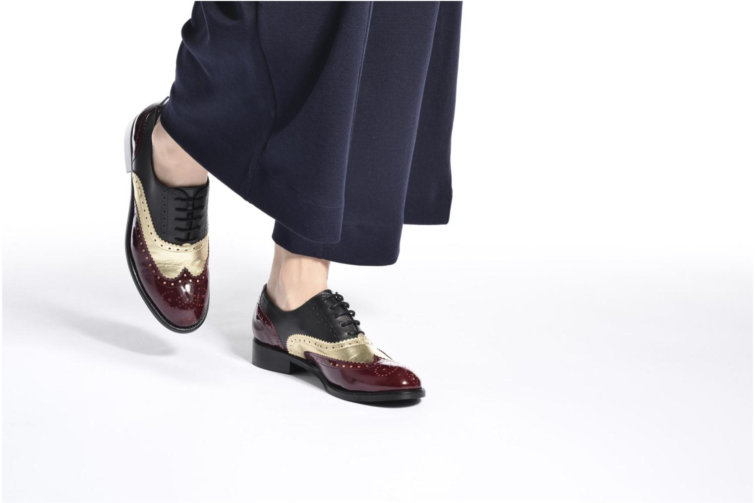 90's Girls Gang Chaussures à Lacets #5 Cuir Multico + Print Militaire