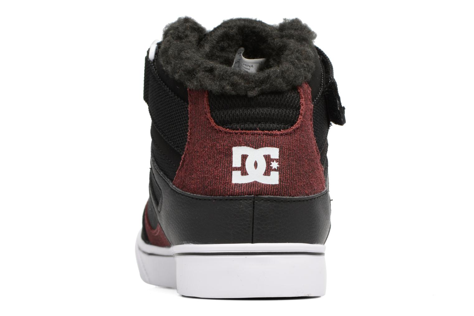 Deportivas DC Shoes SPARTAN HIGH EV B Negro vista lateral derecha