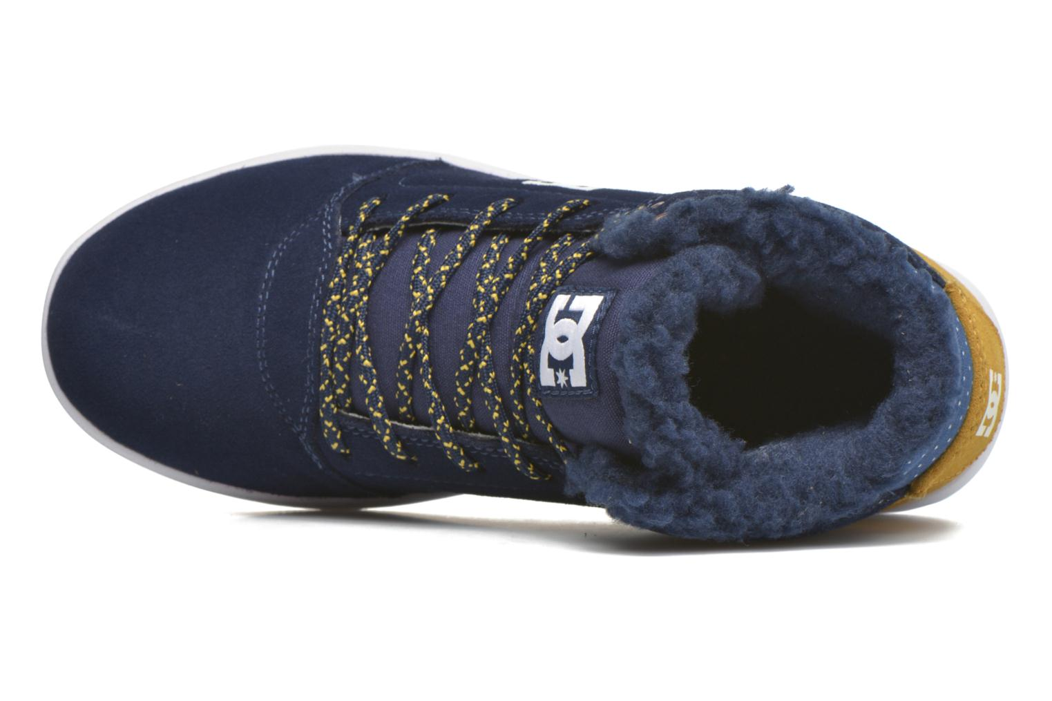 Baskets DC Shoes CRISIS HIGH WNT Bleu vue gauche