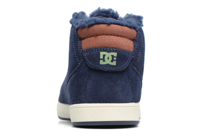 Deportivas DC Shoes CRISIS HIGH WNT Azul vista lateral derecha