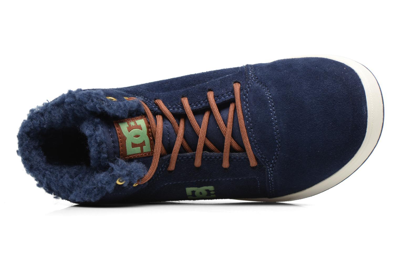Deportivas DC Shoes CRISIS HIGH WNT Azul vista lateral izquierda